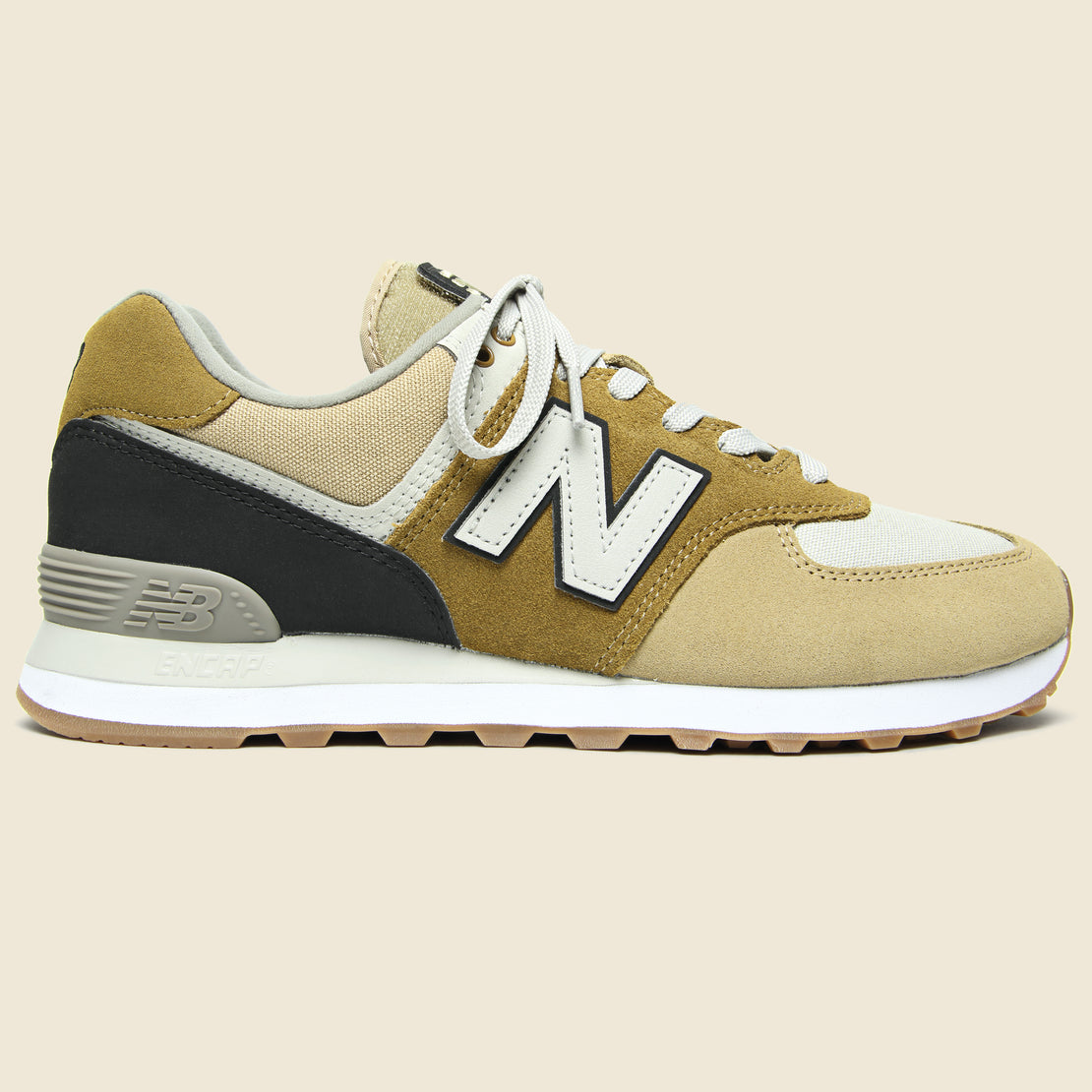 New Balance 574 Sneaker - Hemp/Black
