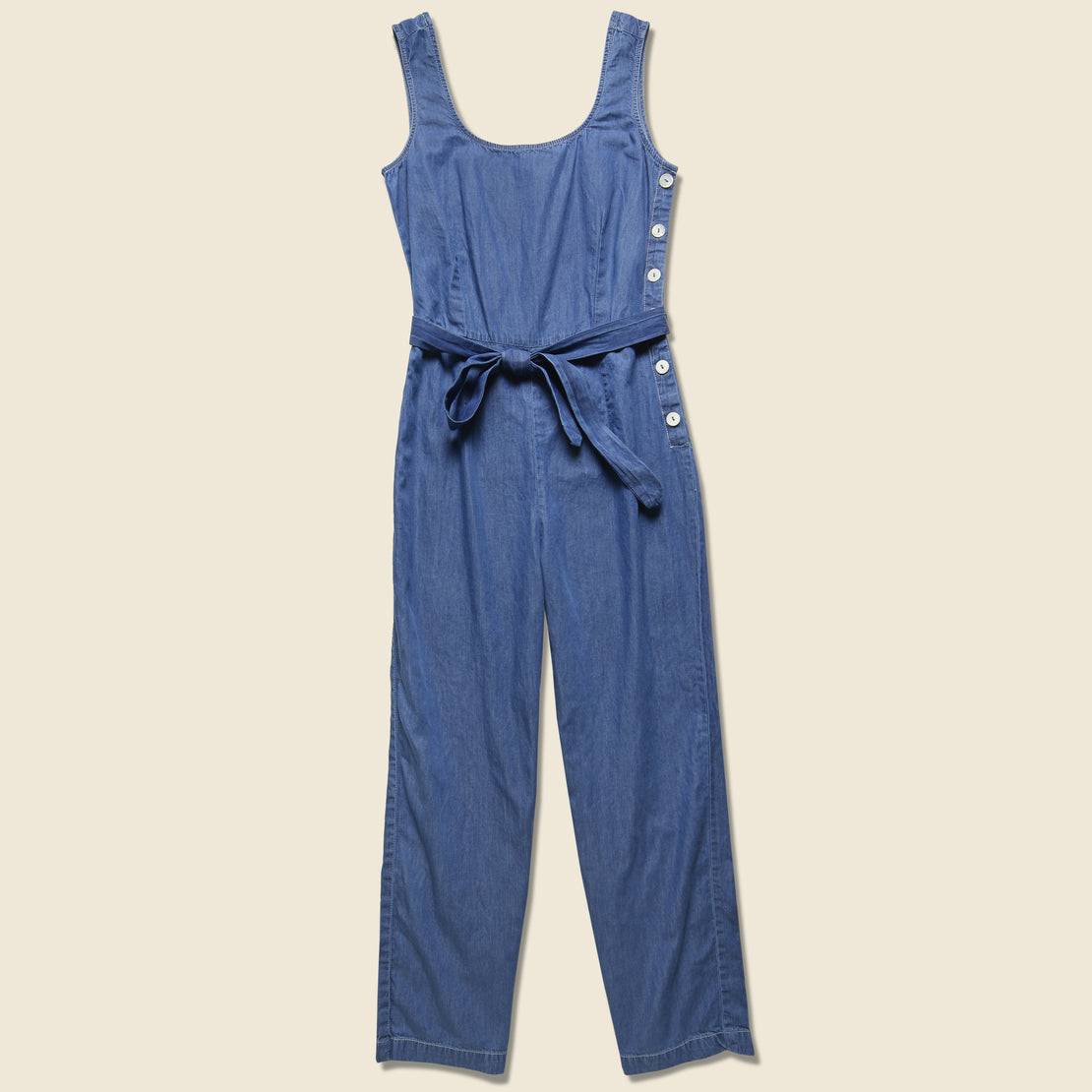 Nice Things Denim Jumpsuit - Blue