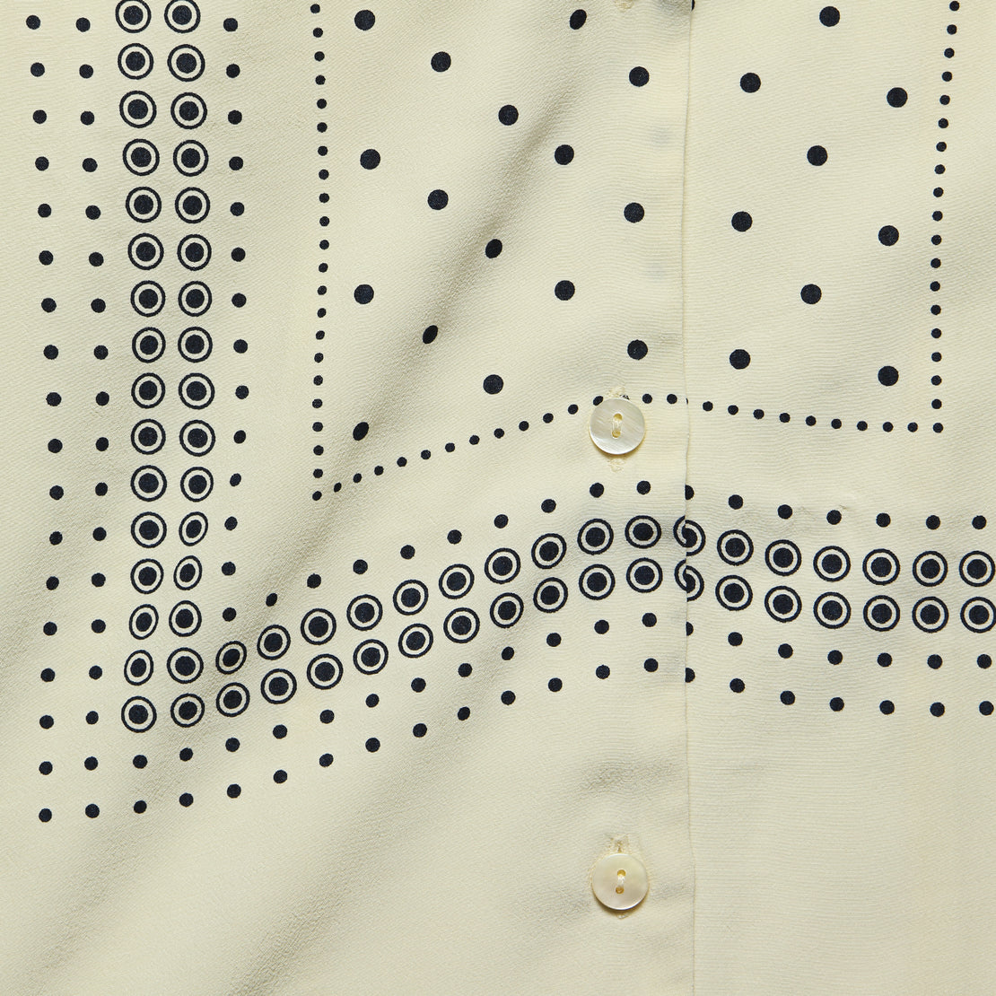 Positional Dots Print Shirt - Ecru