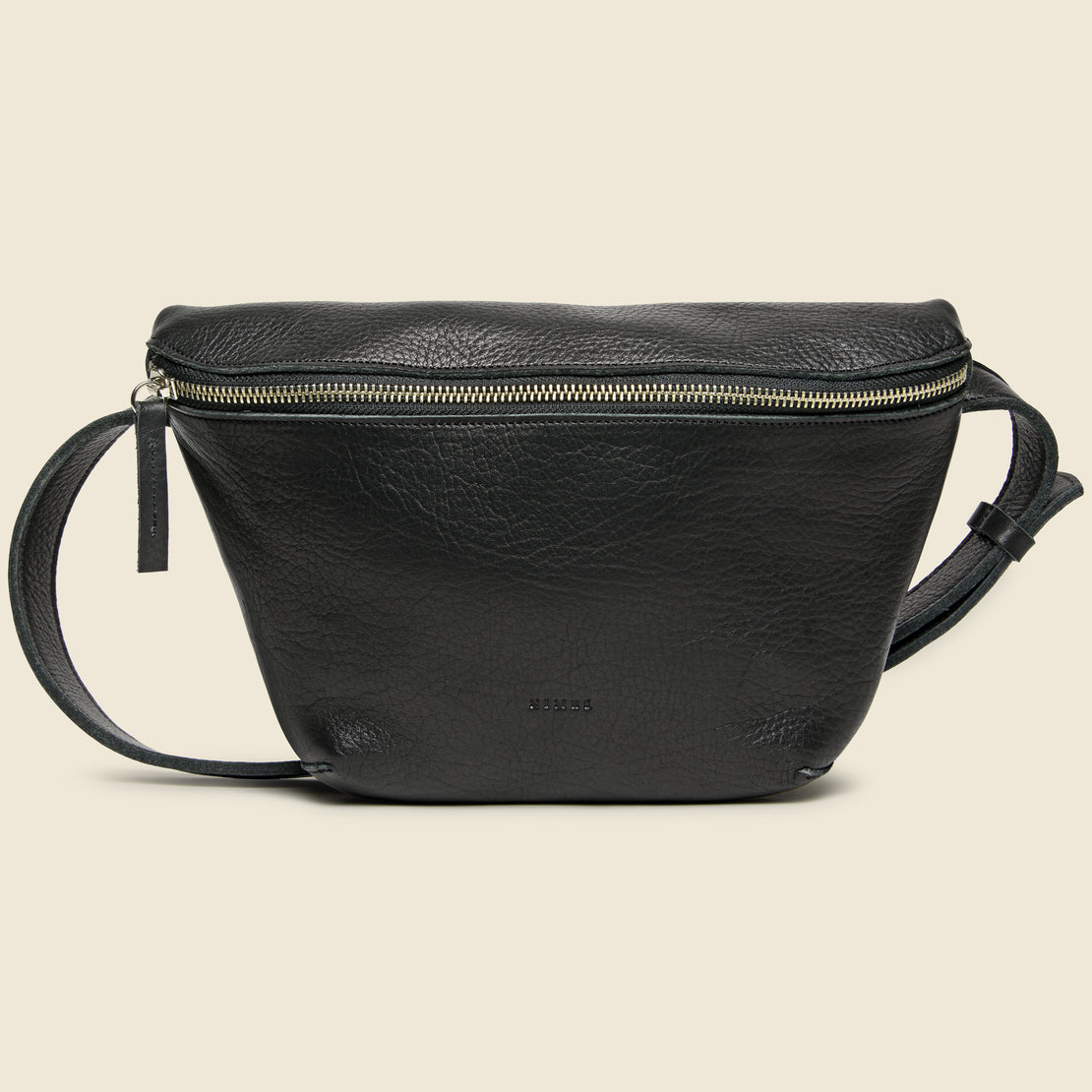 Nimes Ombu Leather Fannypack - Black