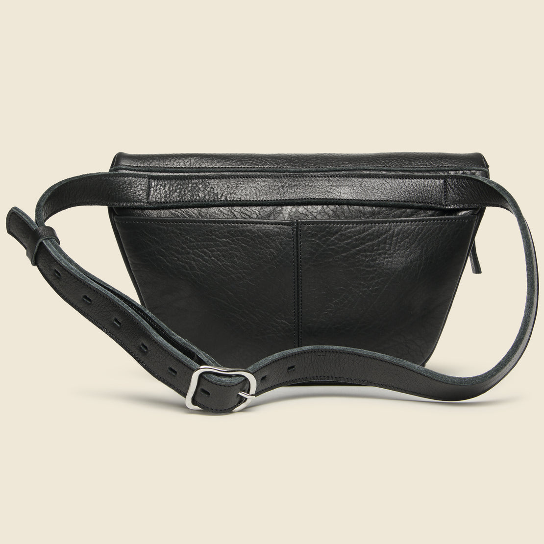 Ombu Leather Fannypack - Black