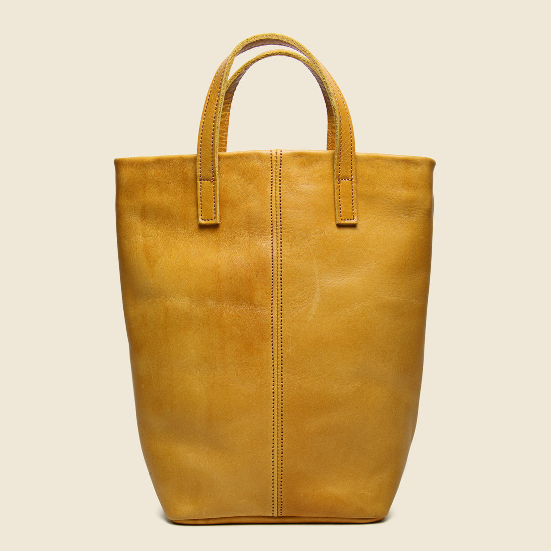 Small Barracas Leather Tote Bag - Caramel