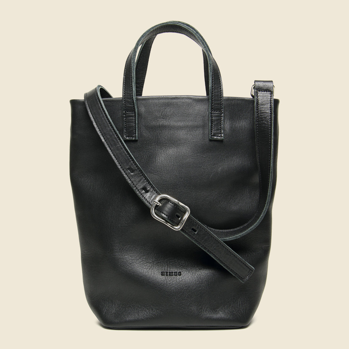Nimes Small Barracas Leather Tote Bag - Black