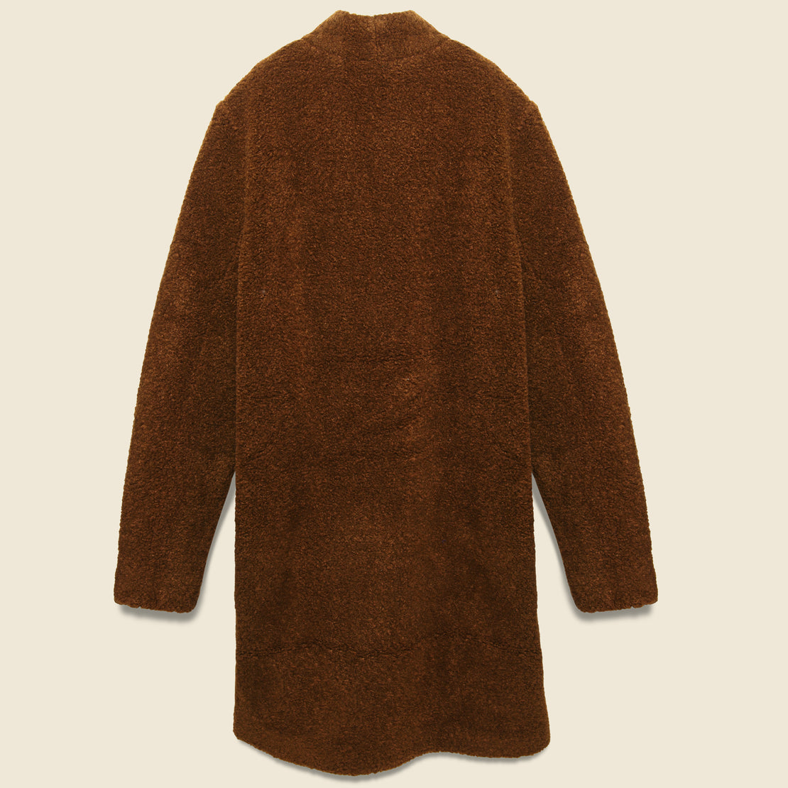 Basic Sherpa Coat - Dark Brown