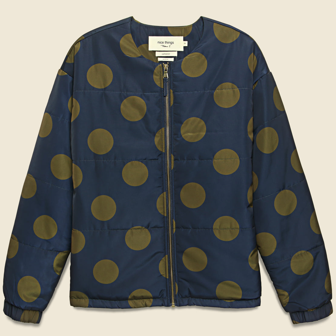 Nice Things Dotted Puffer Jacket - Navy