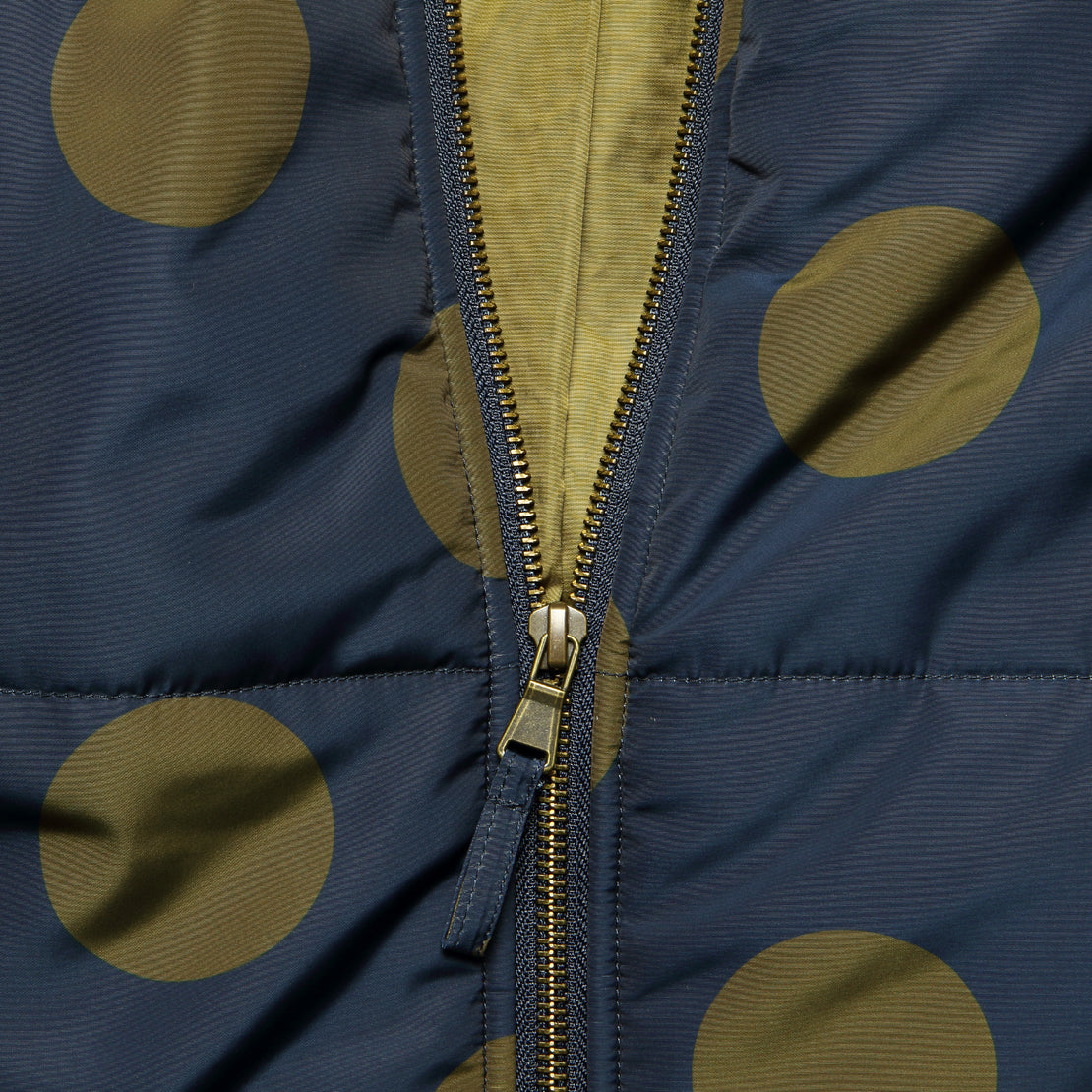 Dotted Puffer Jacket - Navy