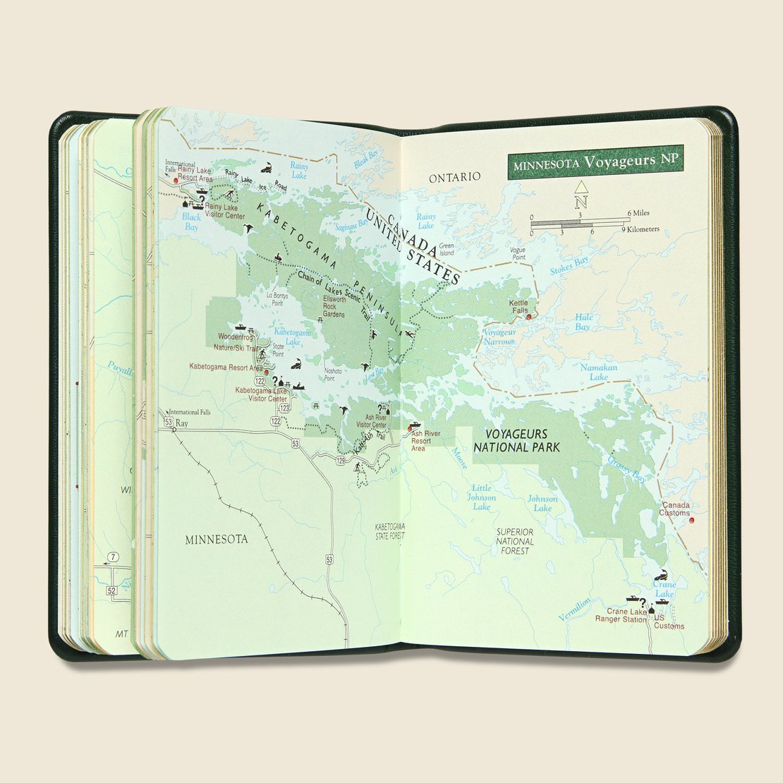 National Parks Atlas - Green Leather
