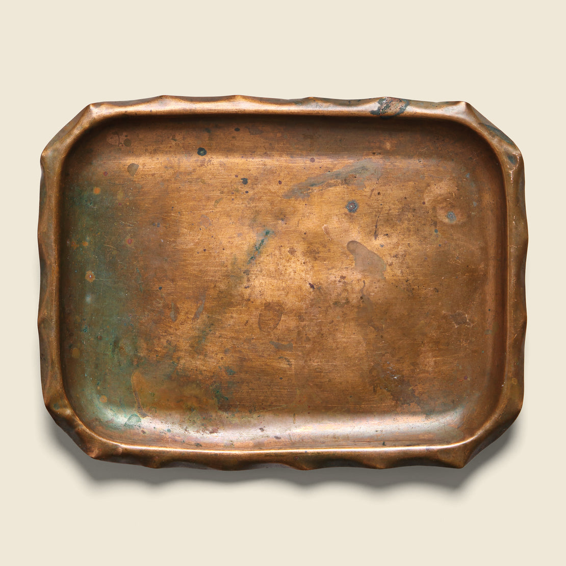 Vintage Small Patinated Copper Tray