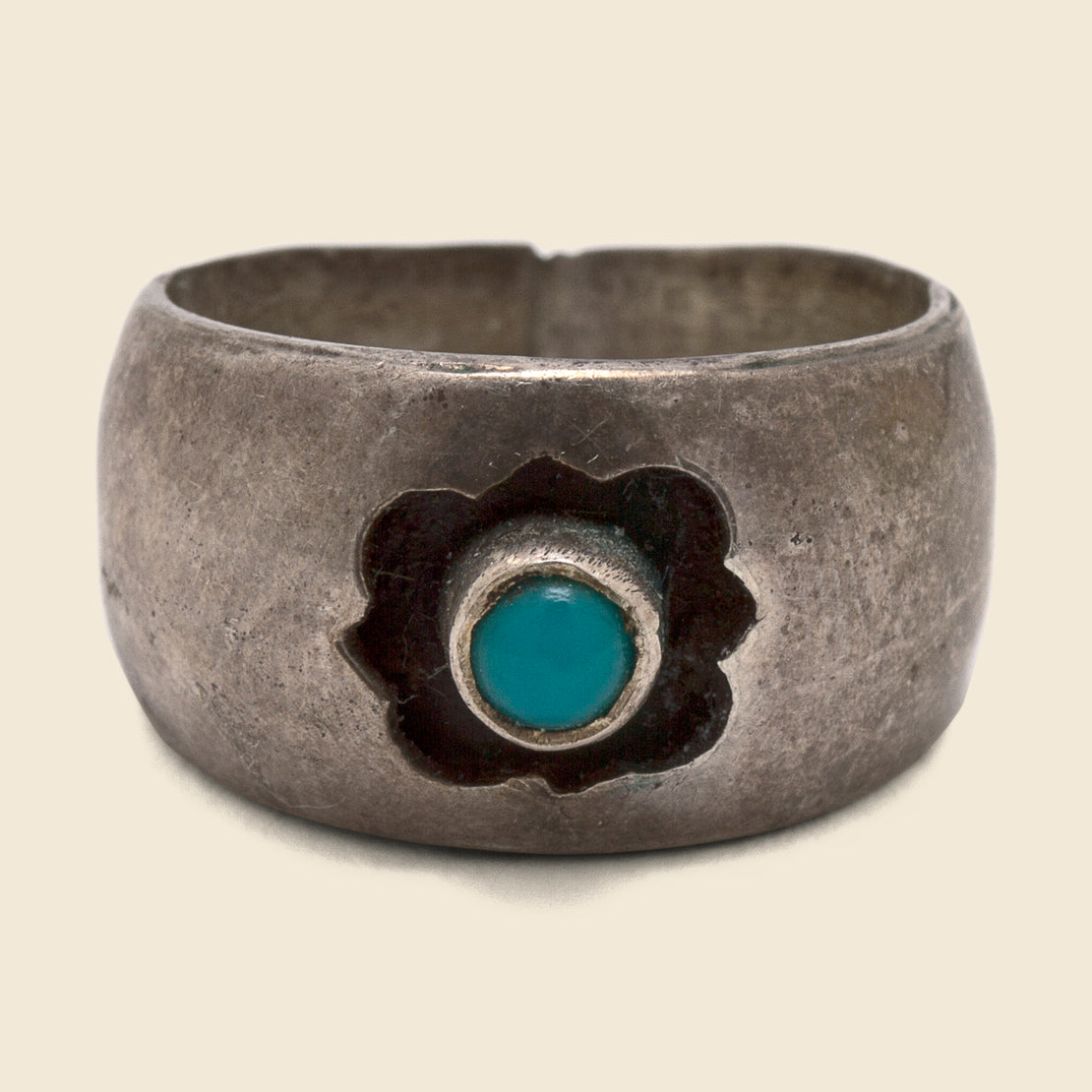 Band with Floating Turquoise - Sterling Silver