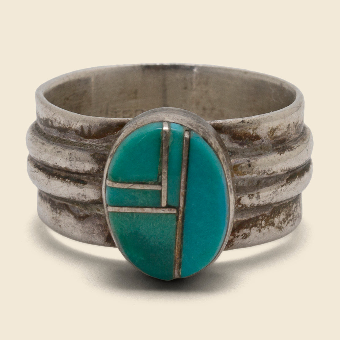 Five Panel Turquoise Ring - Sterling Silver