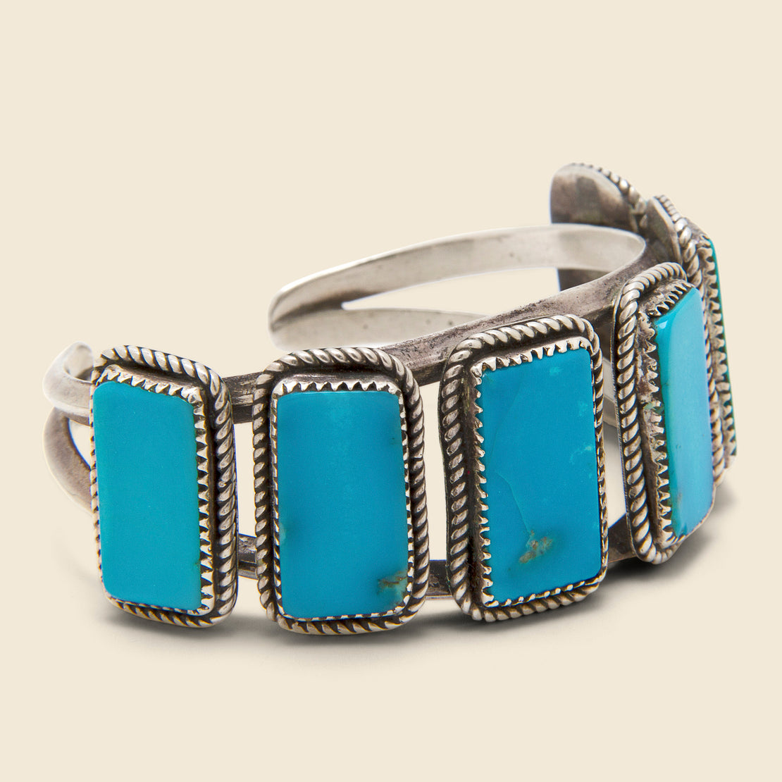 Six Stone Turquoise Cuff - Silver