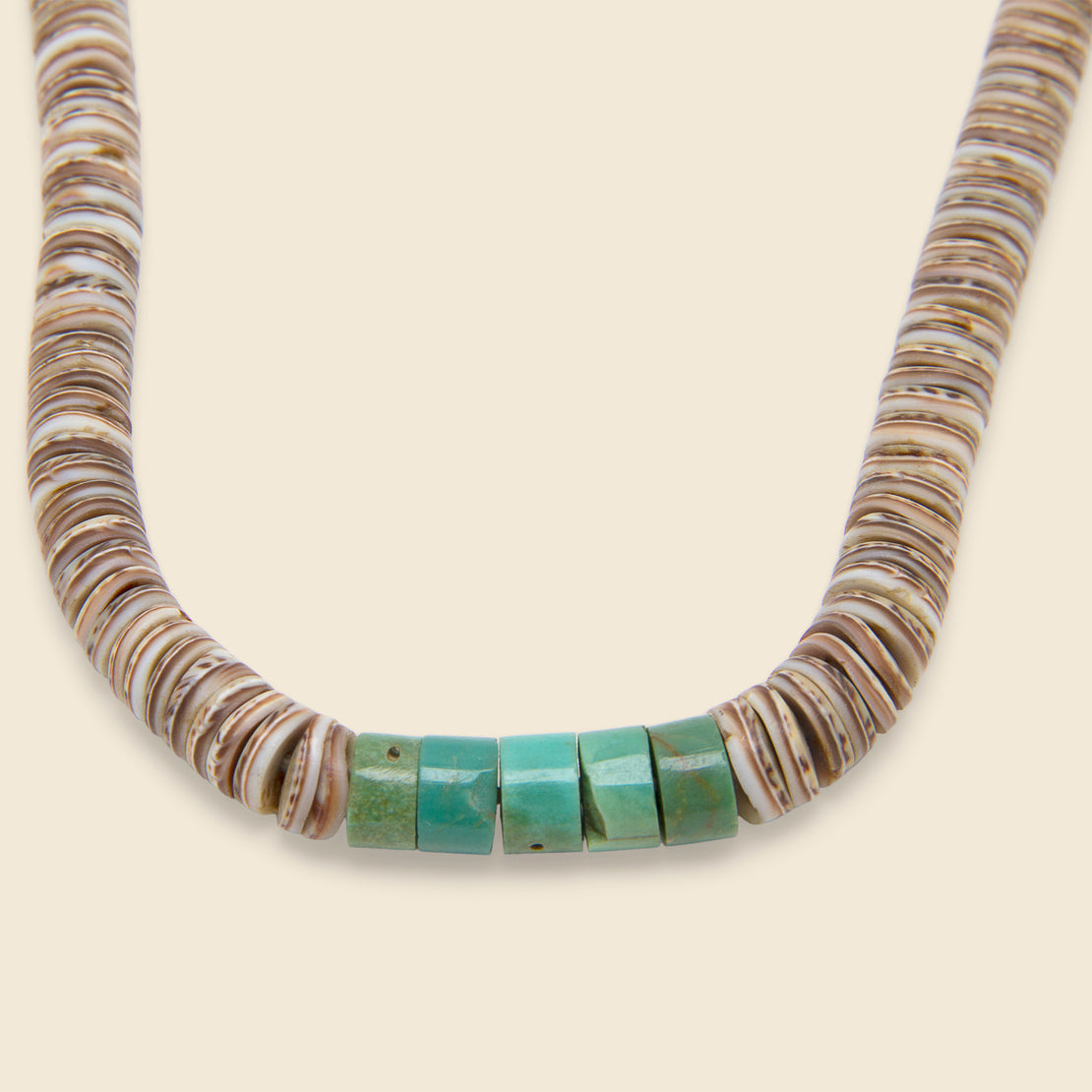 Heishe Necklace - Turquoise & Pin Shell