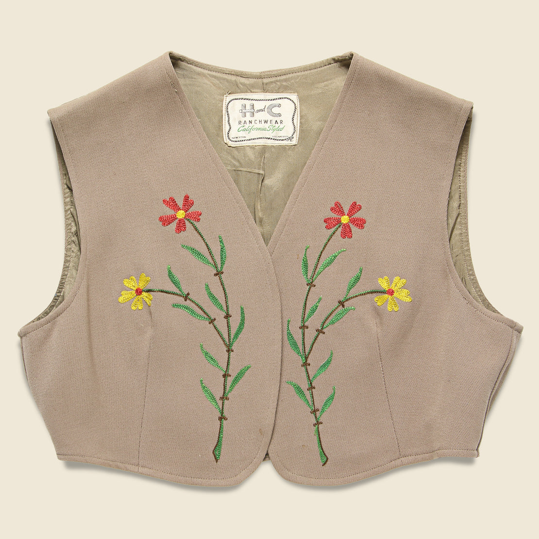 Vintage H & C Embroidered Vest
