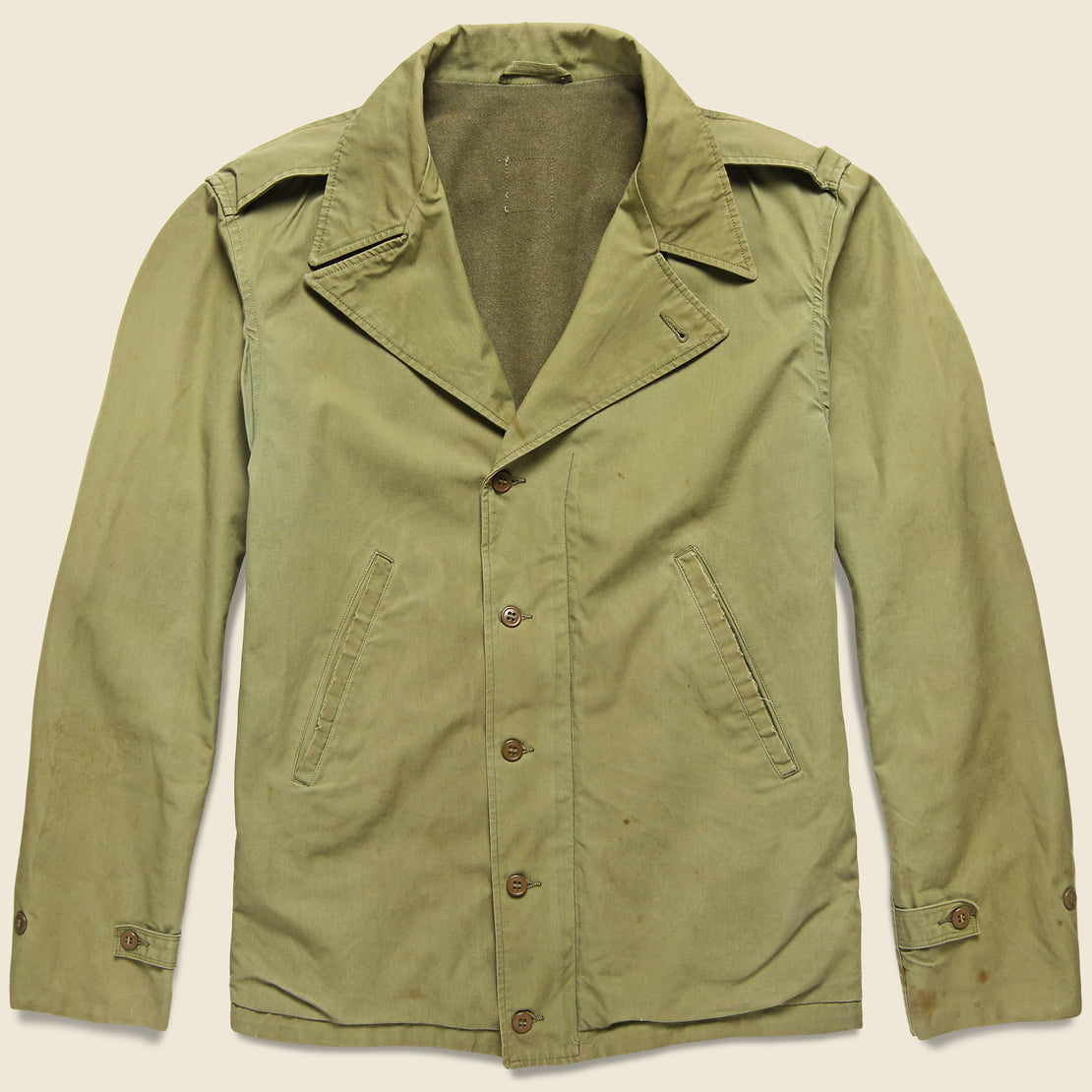 Vintage WWII Air Force Utility Jacket - Military Green