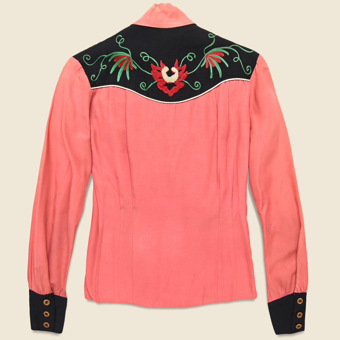 Penneys Ranchcraft Western Embroidered Blouse - Coral Pink