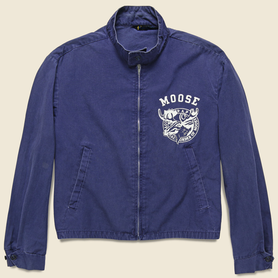 Vintage Champion Moose Lodge Jacket - Navy