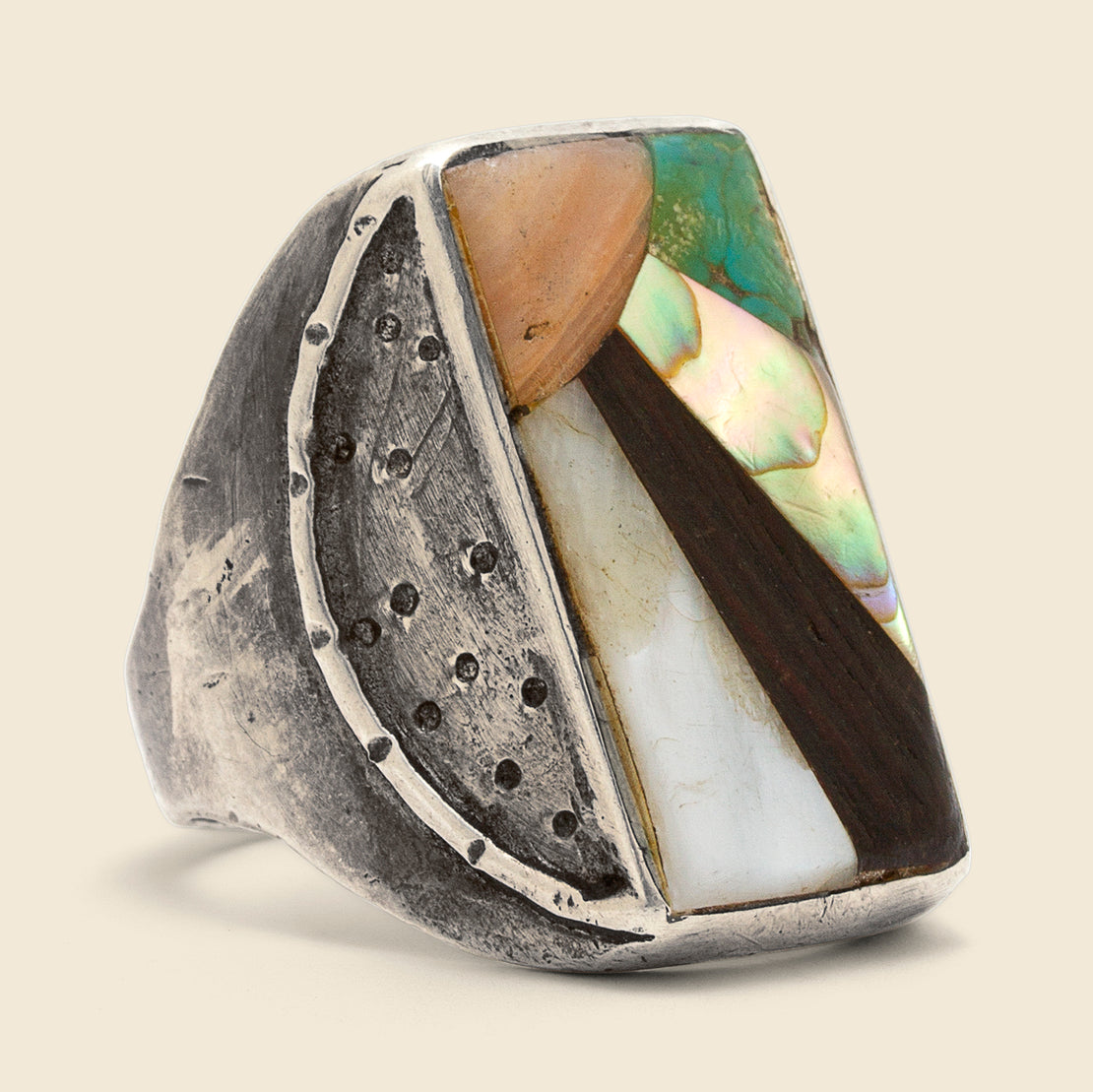 Vintage Sunrise Ring - Sterling