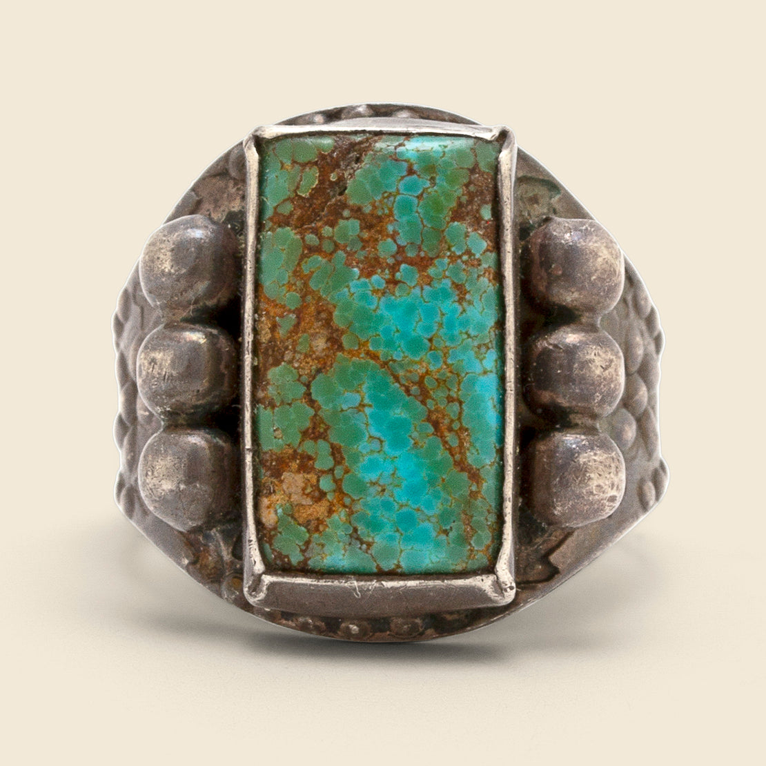 Flowers & Studs Turquoise Ring - Sterling/Turquoise
