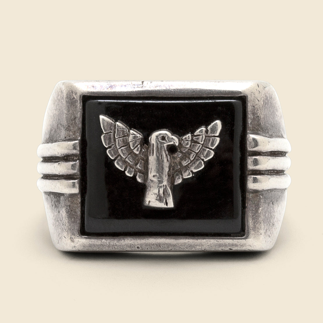 Eagle & Onyx Ring - Sterling/Onyx