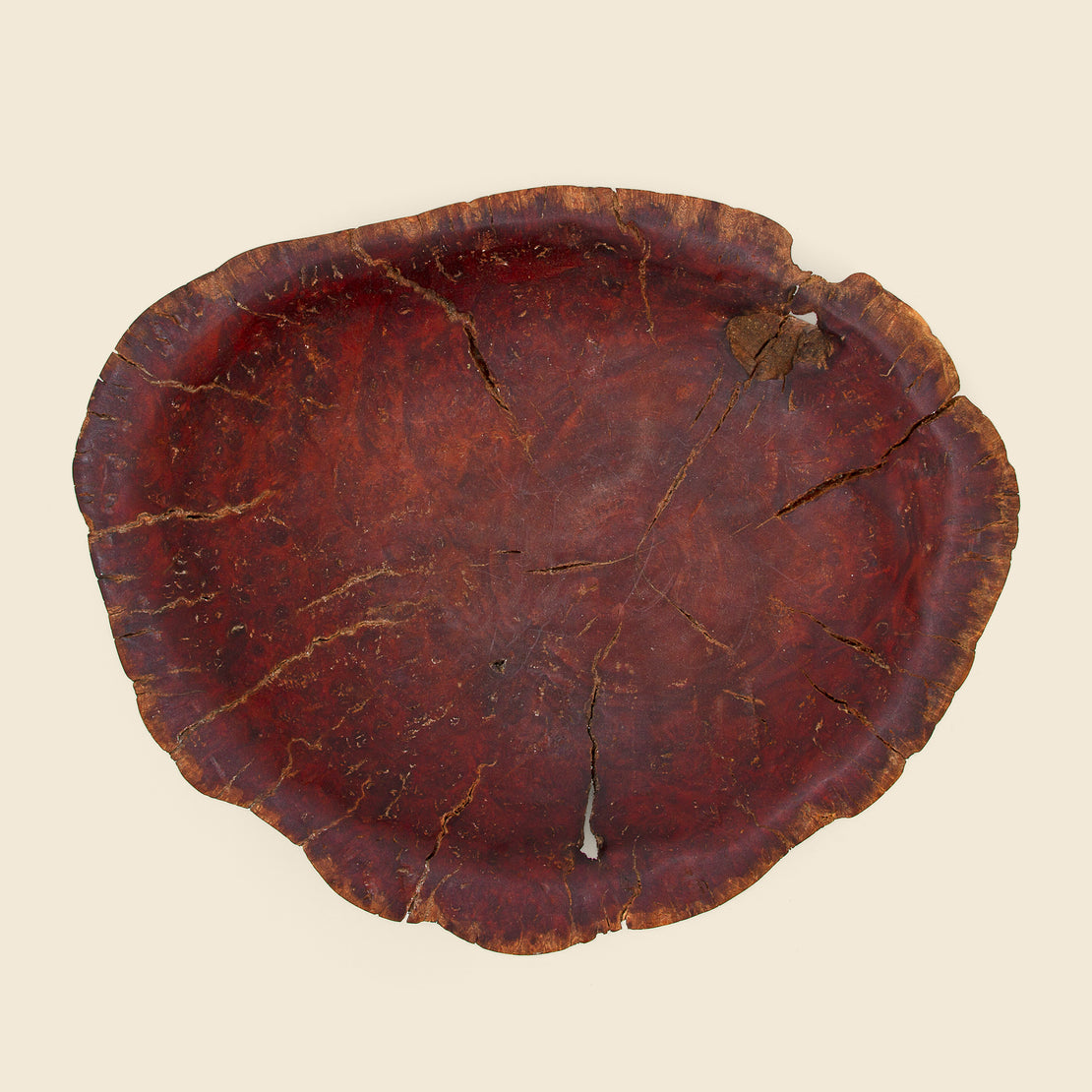 Natural Shallow Wooden Bowl
