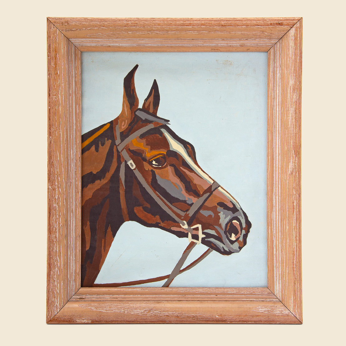 Pair of Framed Horse Paintings