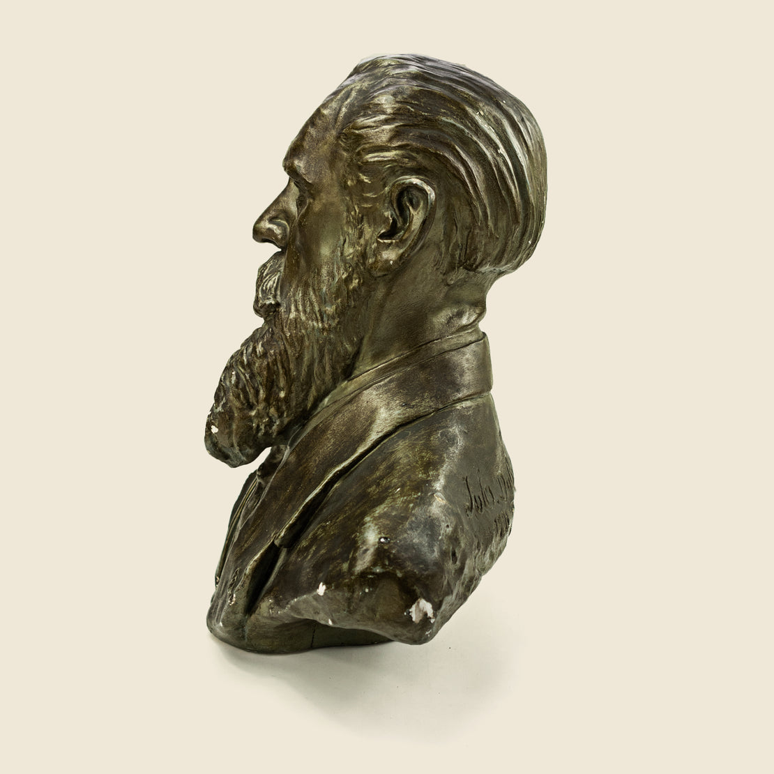 1920s Cast Plaster Bust - Suited Male