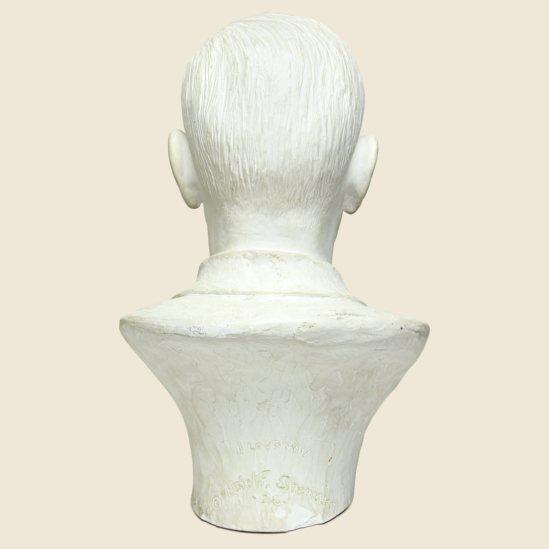 Cast Plaster Male Bust