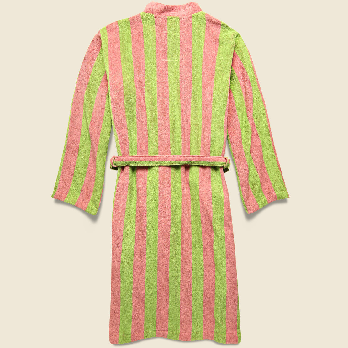 The Berry Robe - Pink/Green Stripe