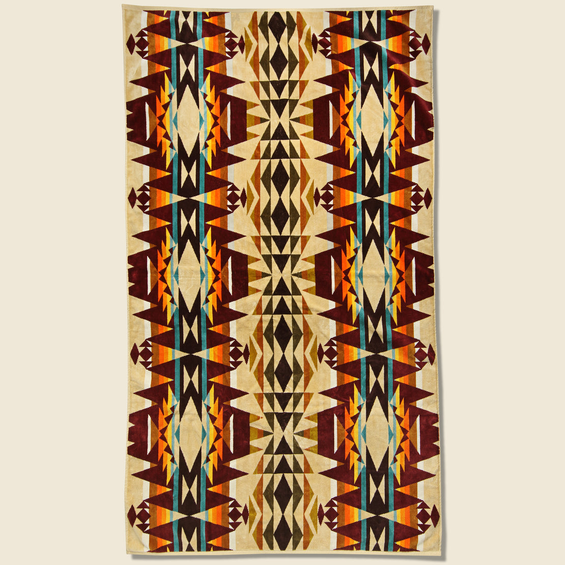 Pendleton Crescent Butte Towel - Beige