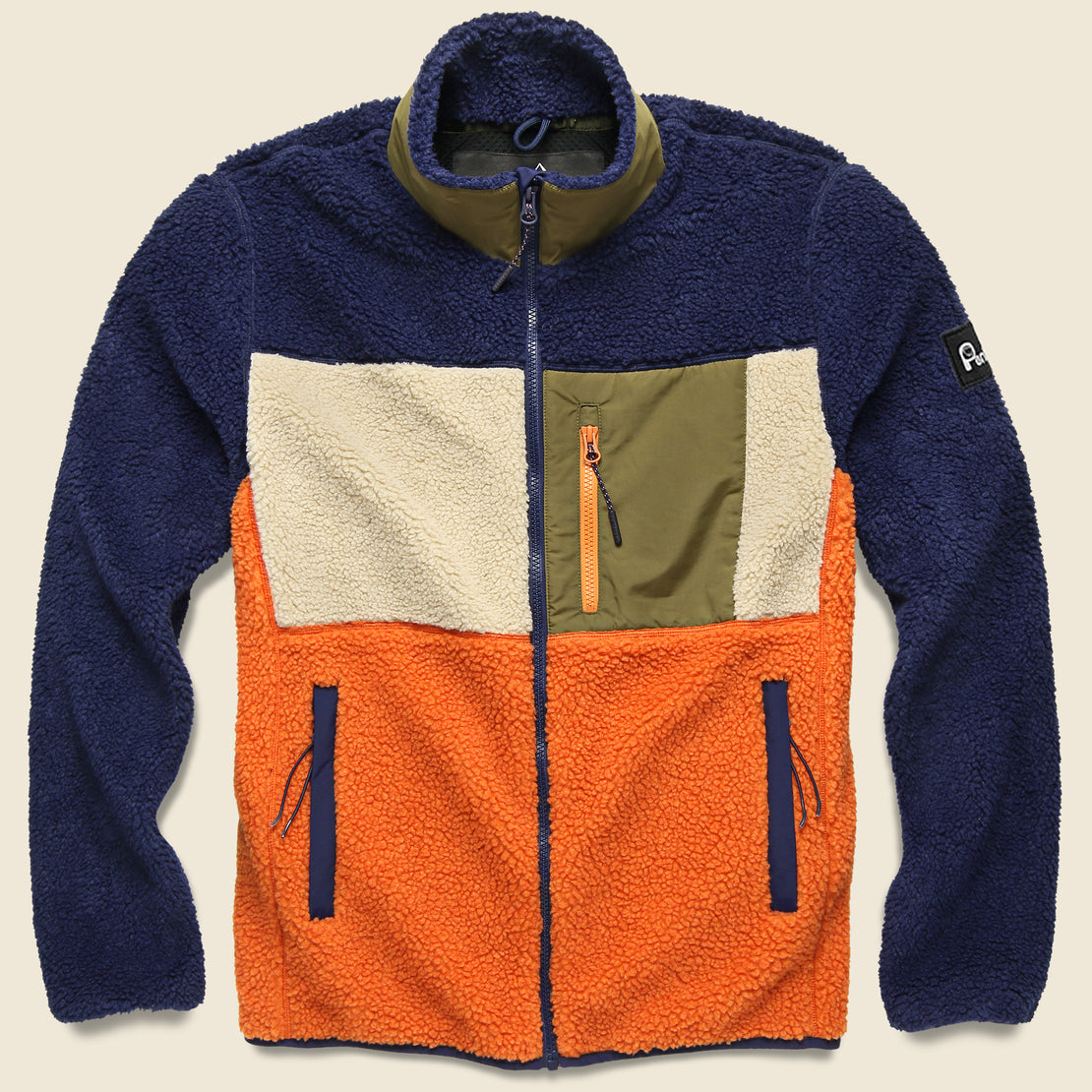 Penfield Mattawa Colorblock Fleece Jacket - Outdoor Orange