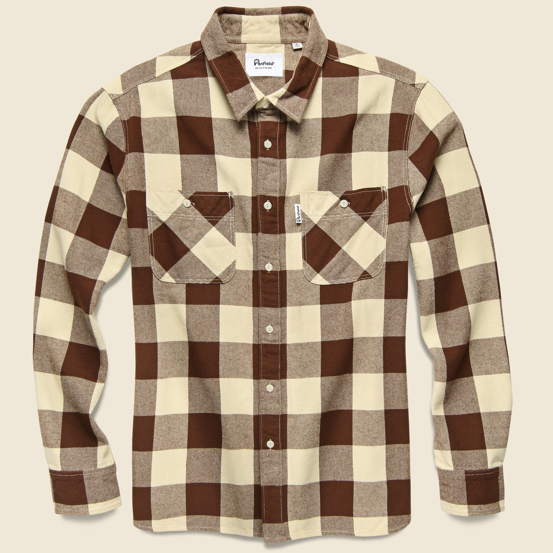 Penfield Blackmer Buffalo Shirt - Ecru