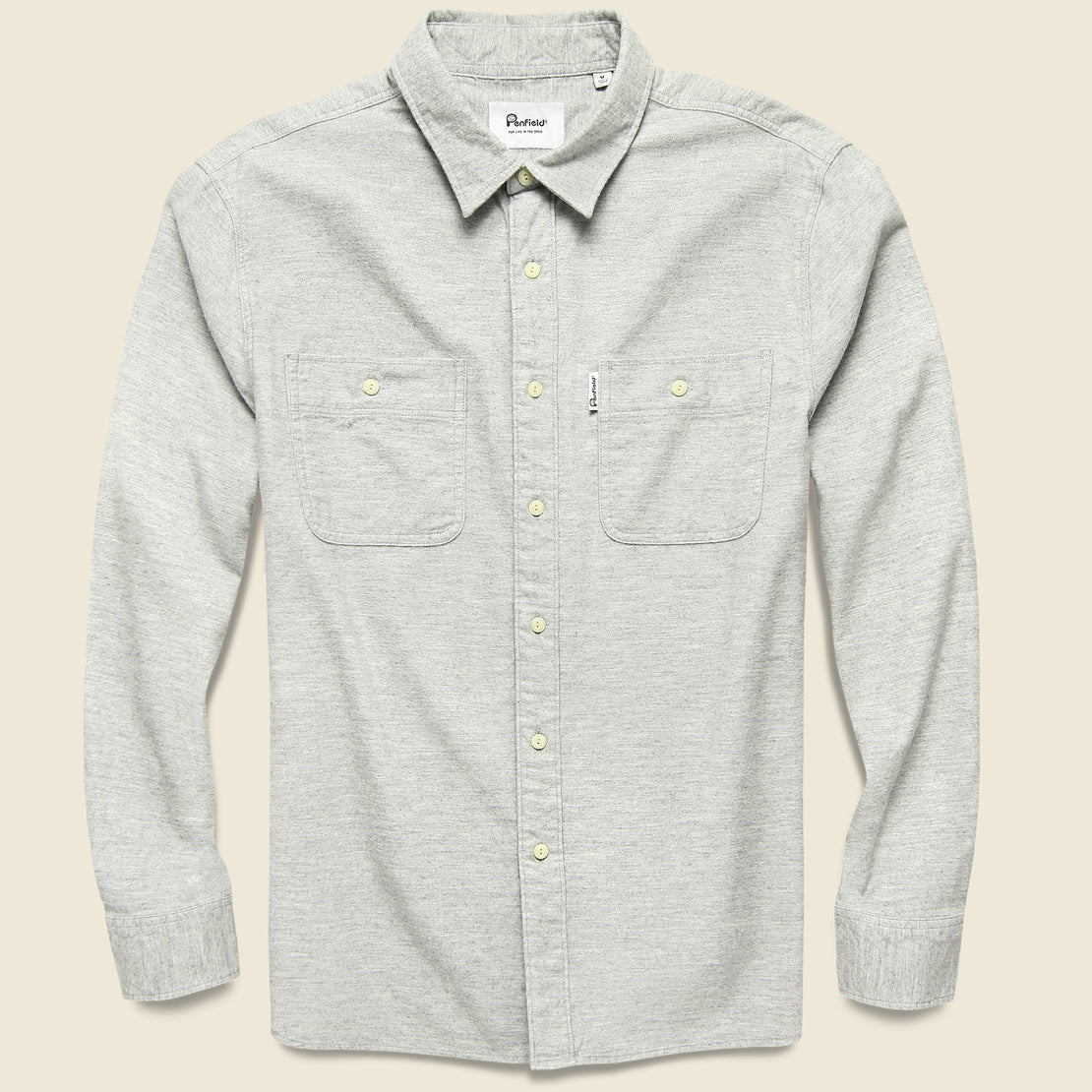 Penfield Blackmer Heather Shirt - Grey Marl