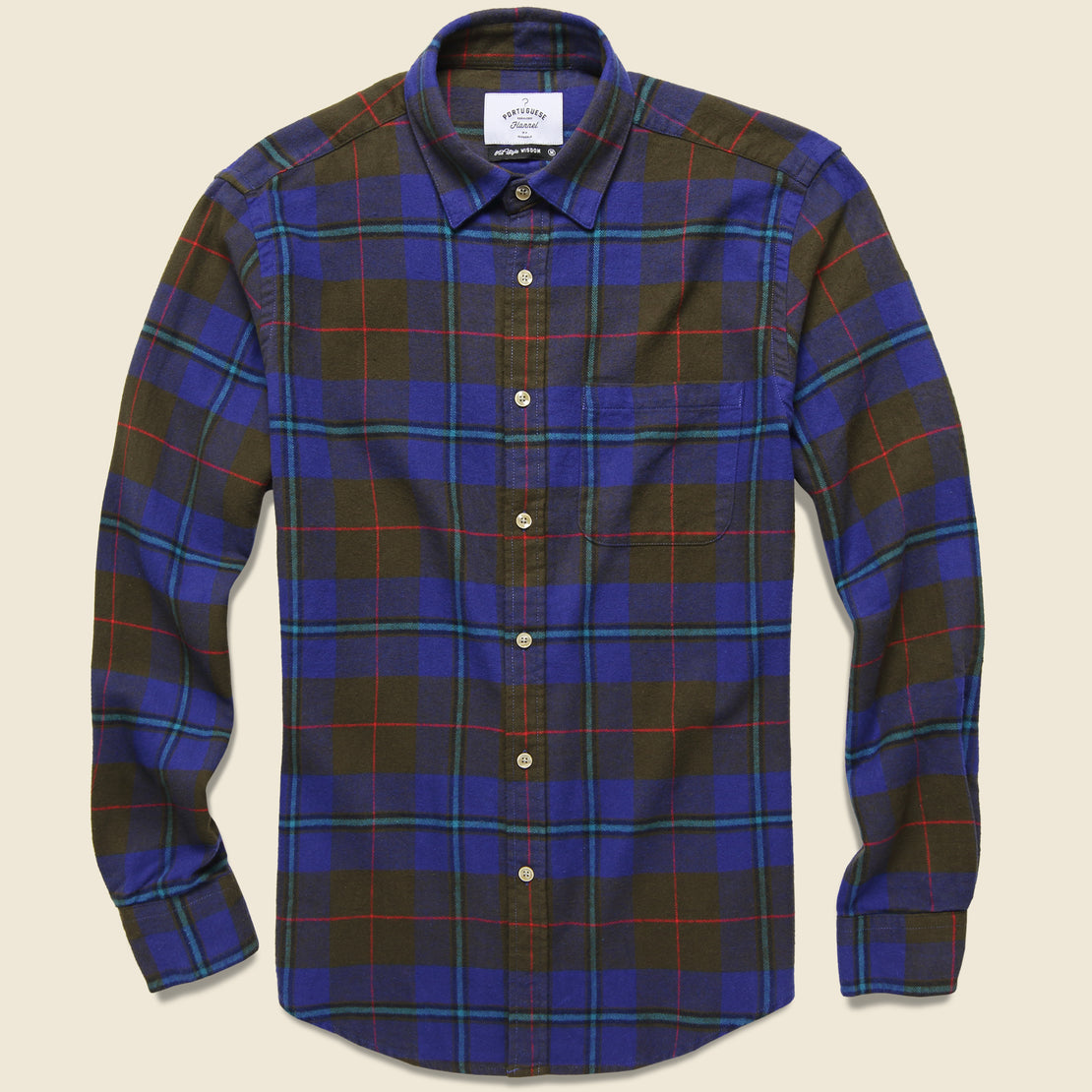 Portuguese Flannel Freedom Plaid Flannel - Brown/Blue