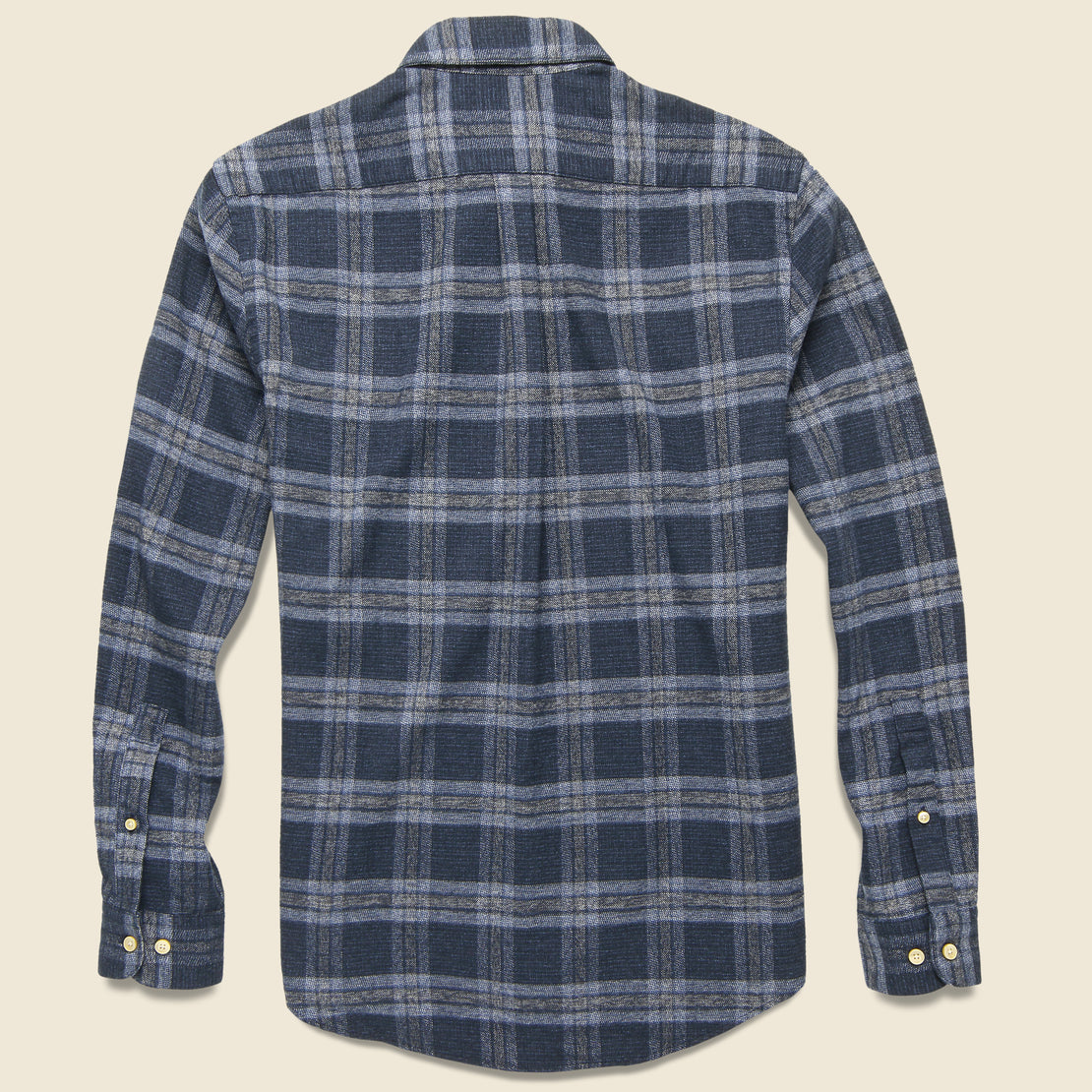 Abstract Check Flannel - Navy/Grey