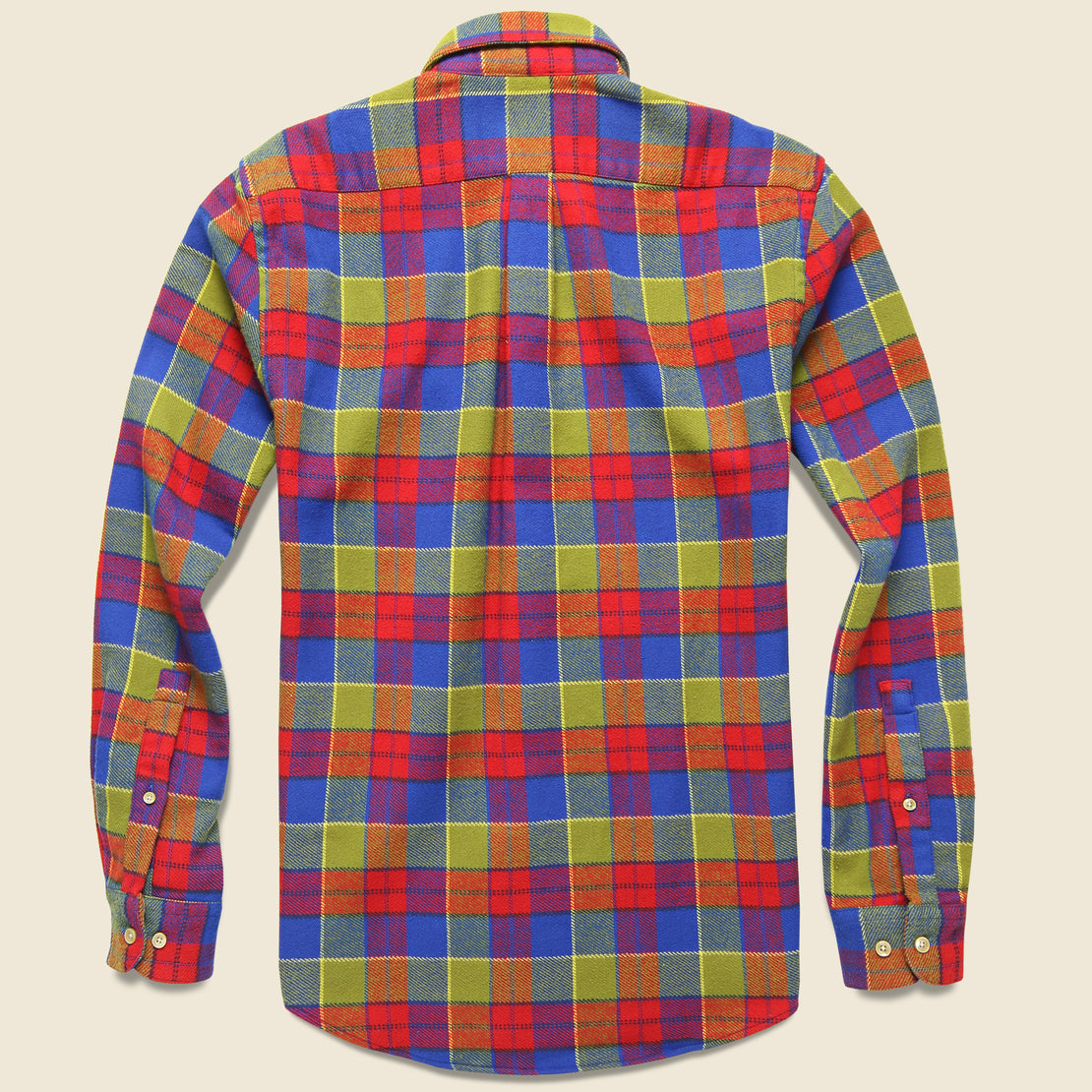 Nebraska Check Flannel - Red/Green/Blue