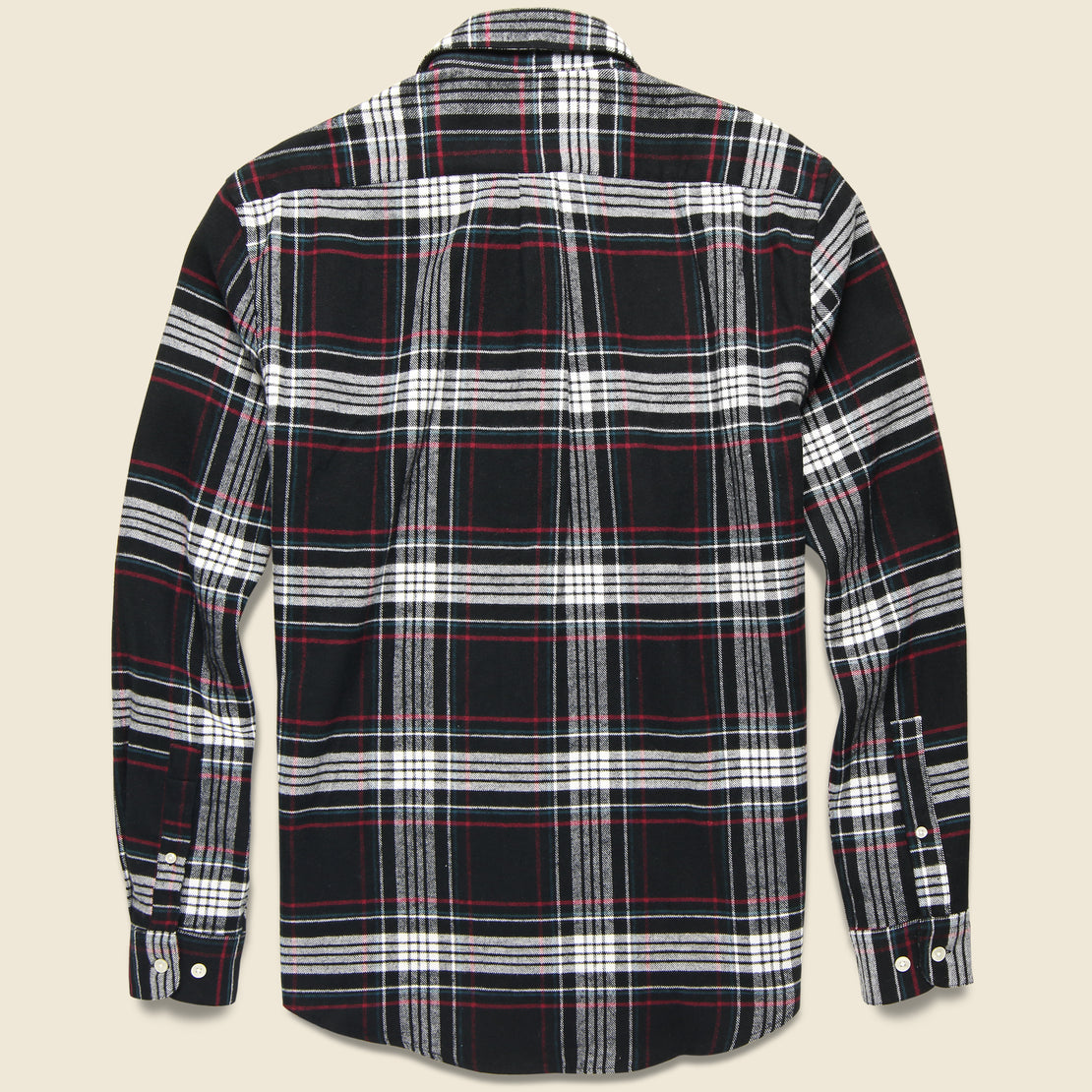 Big Square Nazare Flannel - Black/White