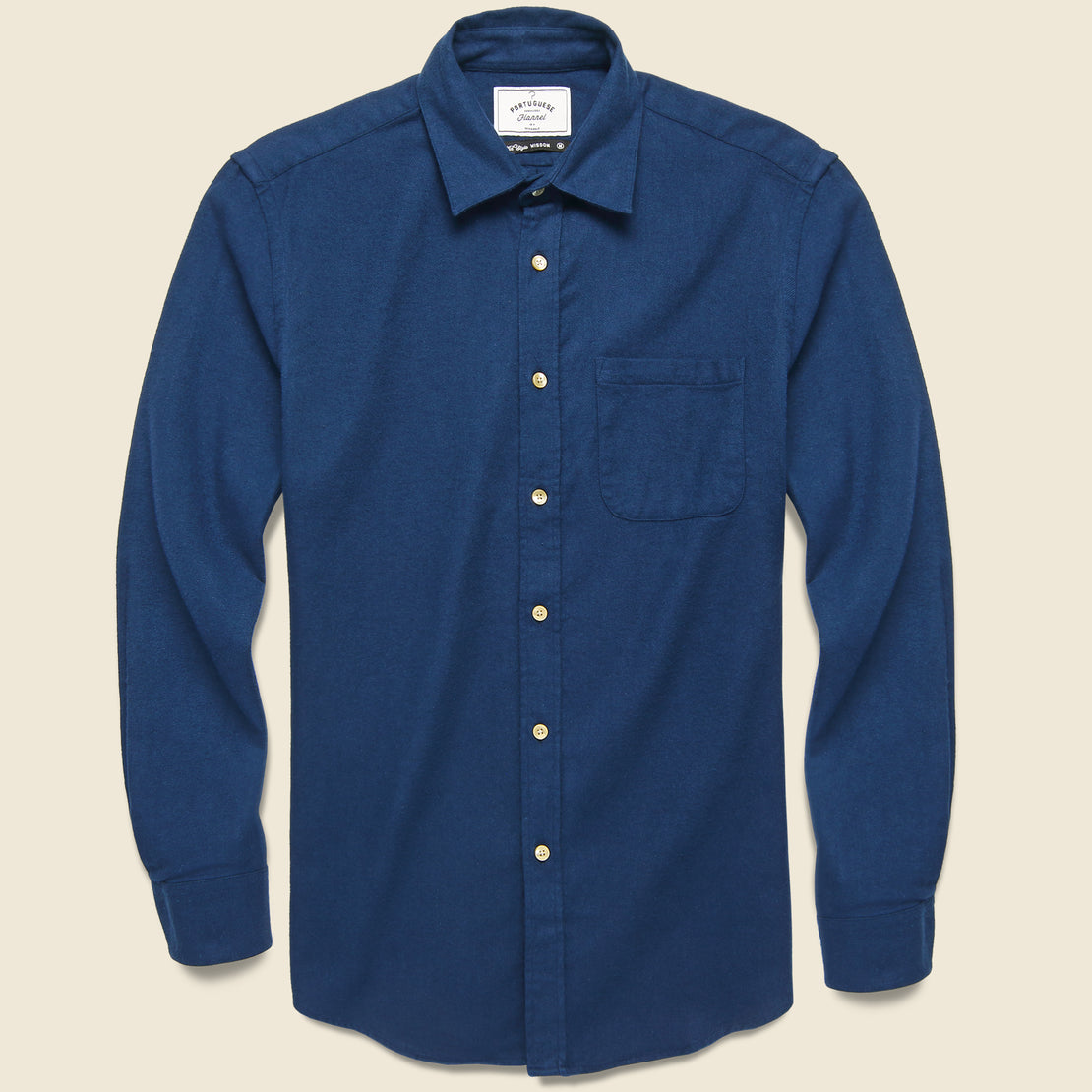 Portuguese Flannel Teca Solid Flannel - French Blue