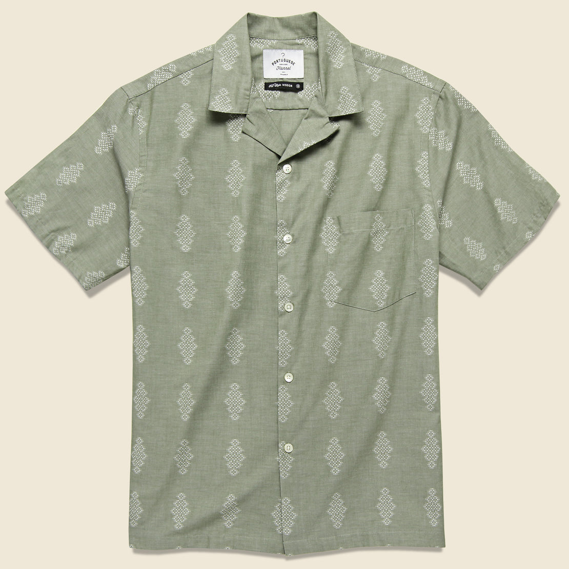 Portuguese Flannel Bunch Shirt - Pale Green