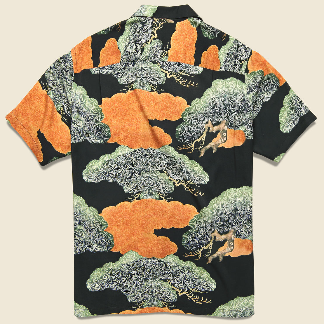 Japanese Pine Camp Shirt - Black/Orange