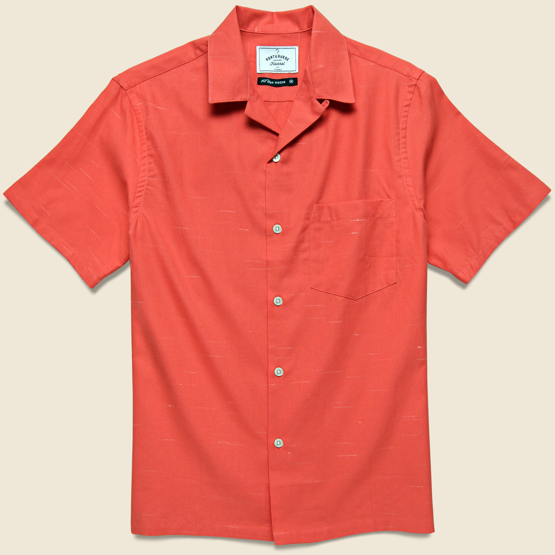 Portuguese Flannel Soup Camp Shirt - Red