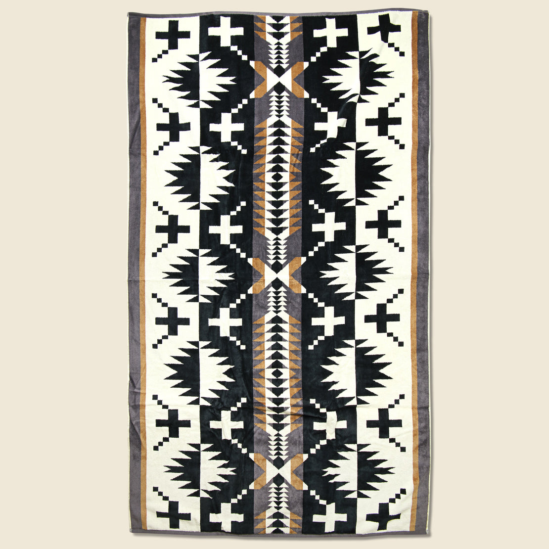 Pendleton Spider Rock Towel - Black/White
