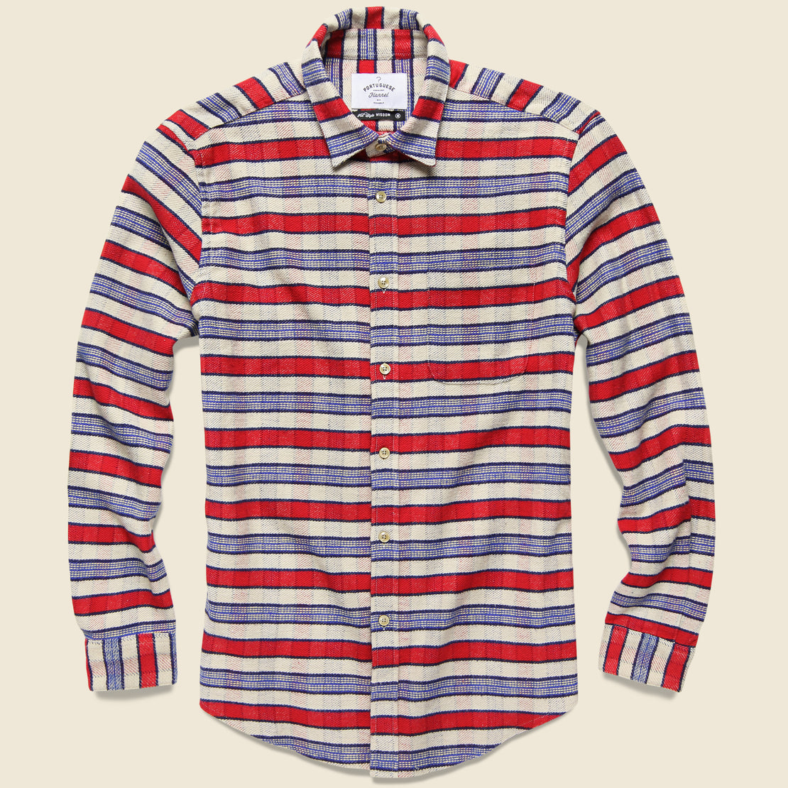 Portuguese Flannel Jersey Plaid Flannel - Red/White