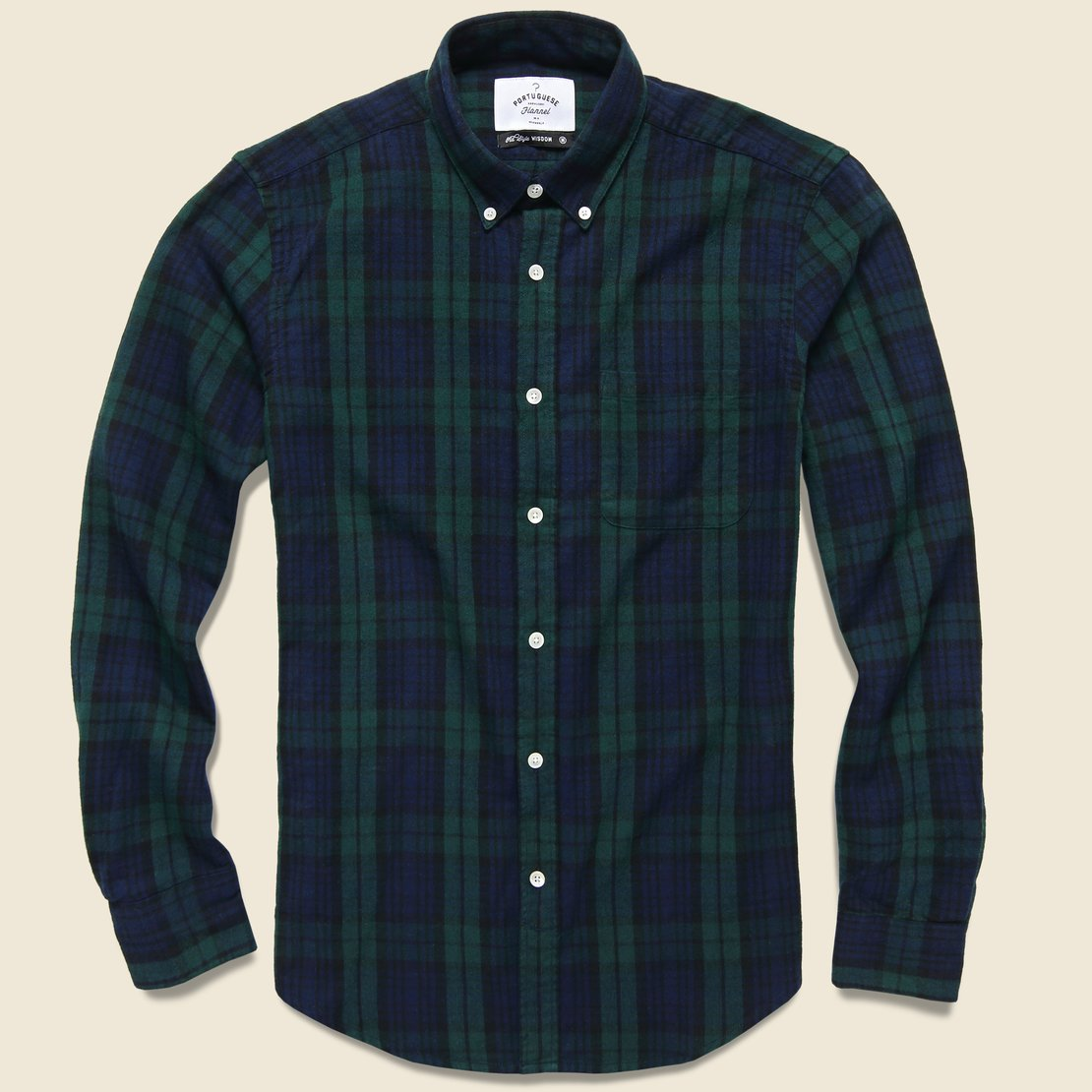 Portuguese Flannel Bonfim Plaid Flannel - Blackwatch