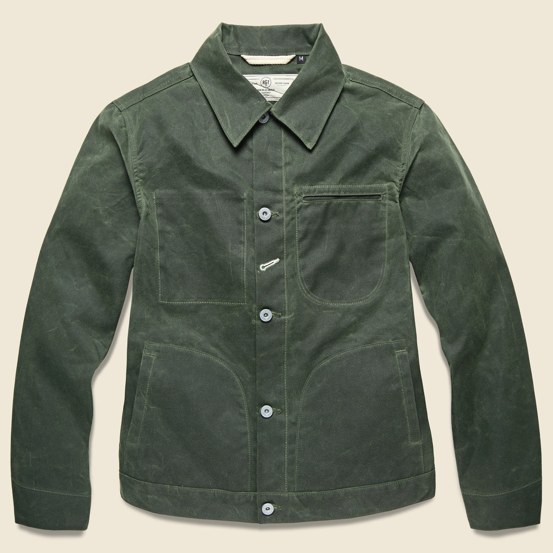 Rogue Territory Supply Jacket - Waxed Olive Ridgeline