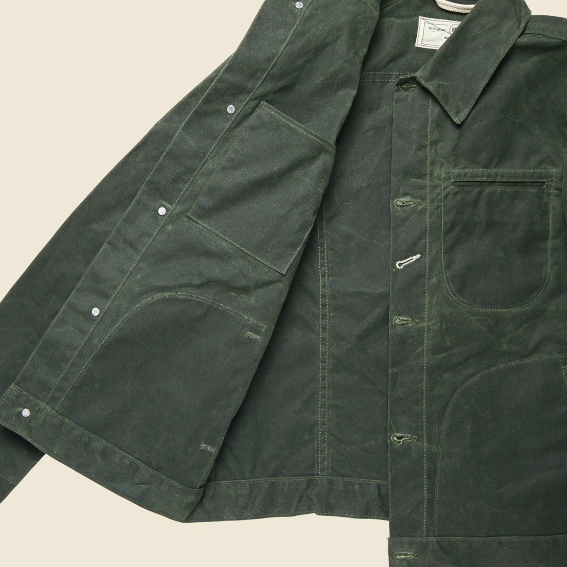 Supply Jacket - Waxed Olive Ridgeline