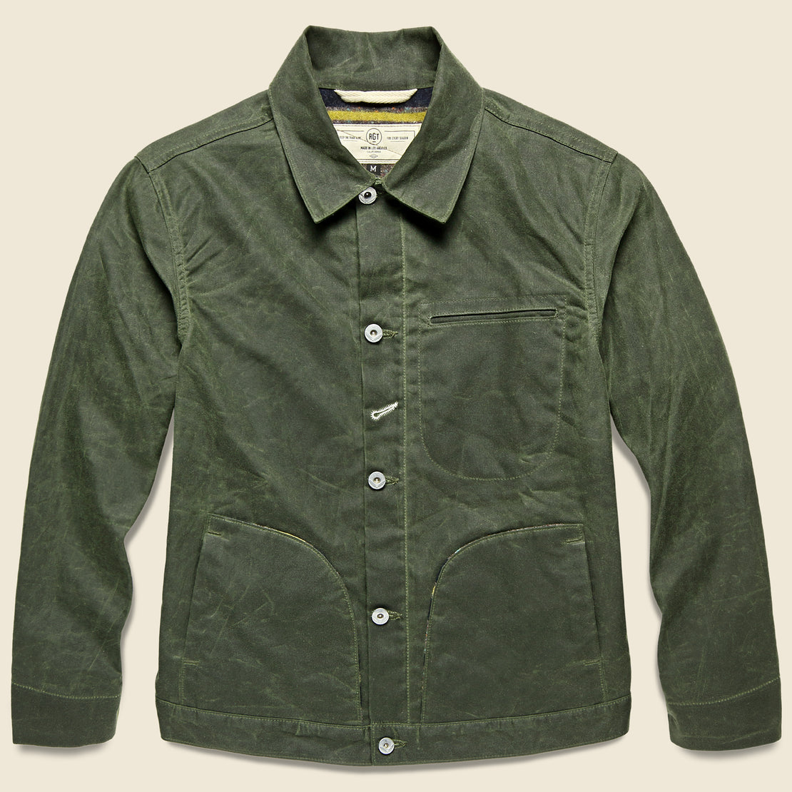 Supply Jacket - Blanket Lined Waxed Olive Ridgeline