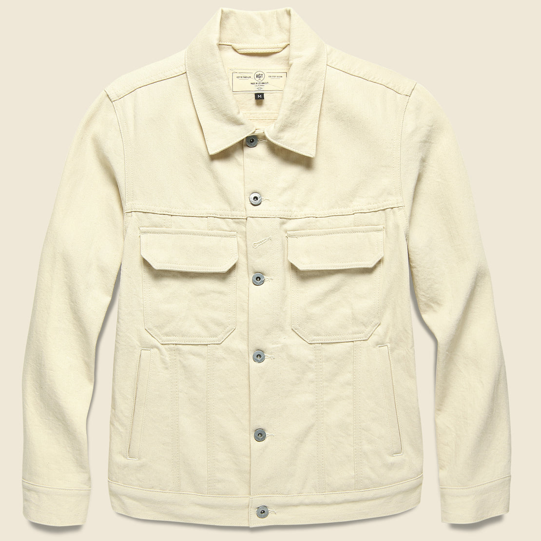 Rogue Territory Cruiser Jacket - Ecru Denim