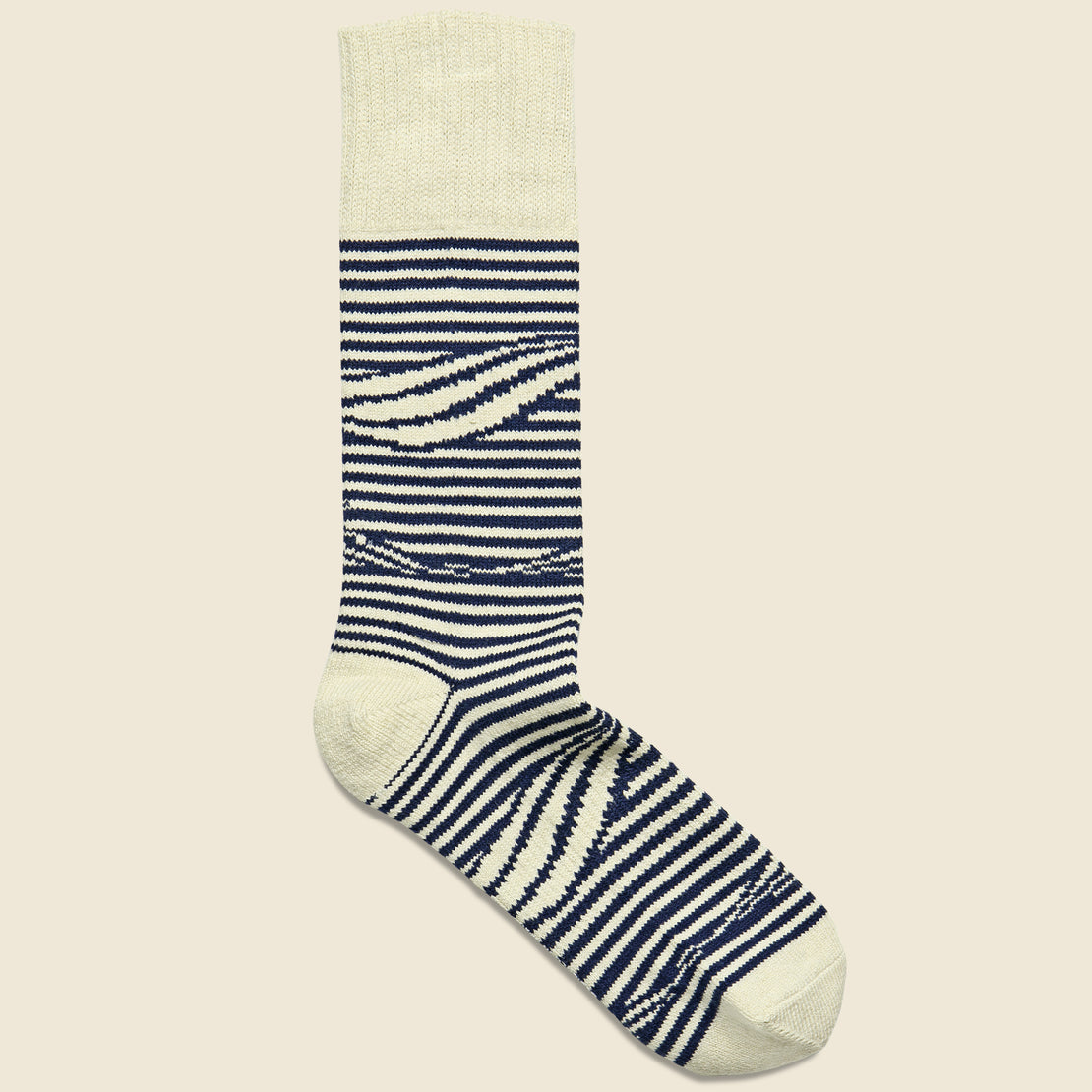 Richer Poorer Crush Crew Sock - Navy/White