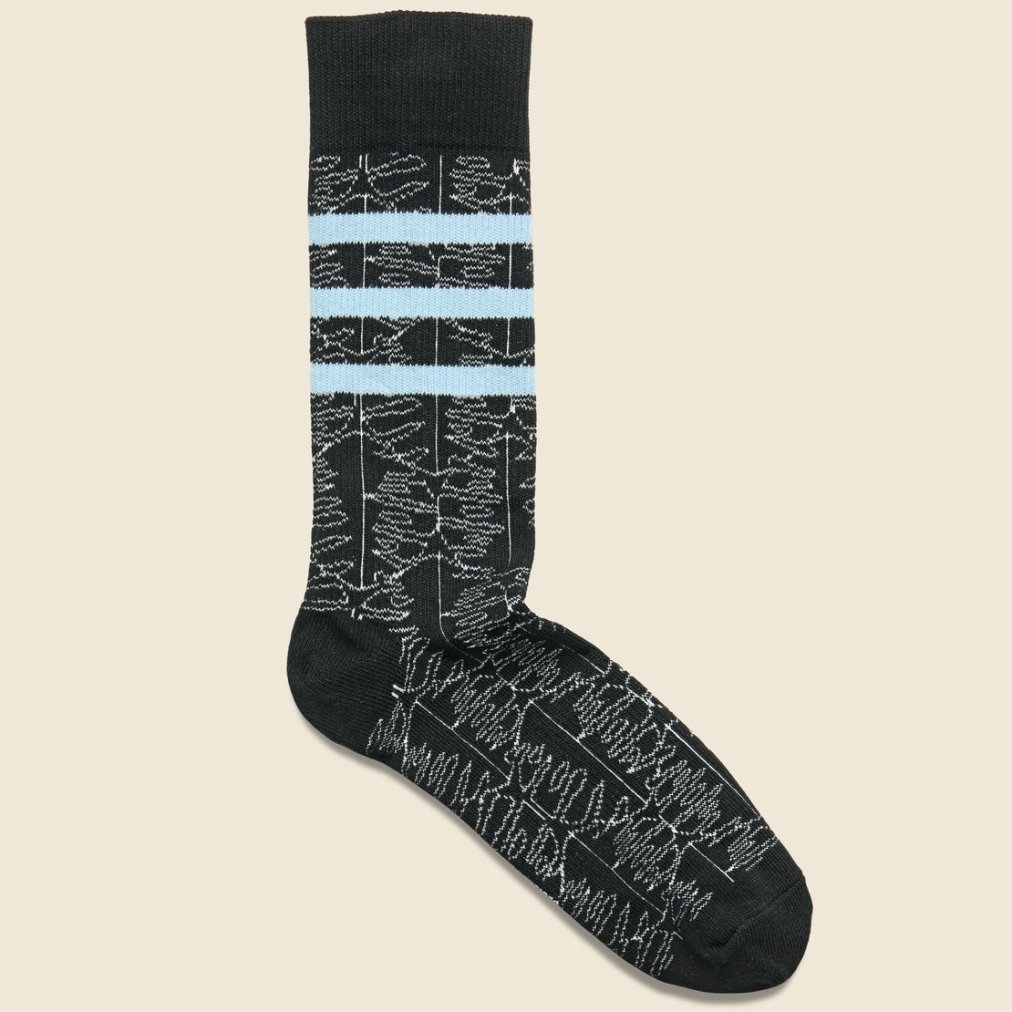 Richer Poorer Dylan Crew Sock - Black/Blue