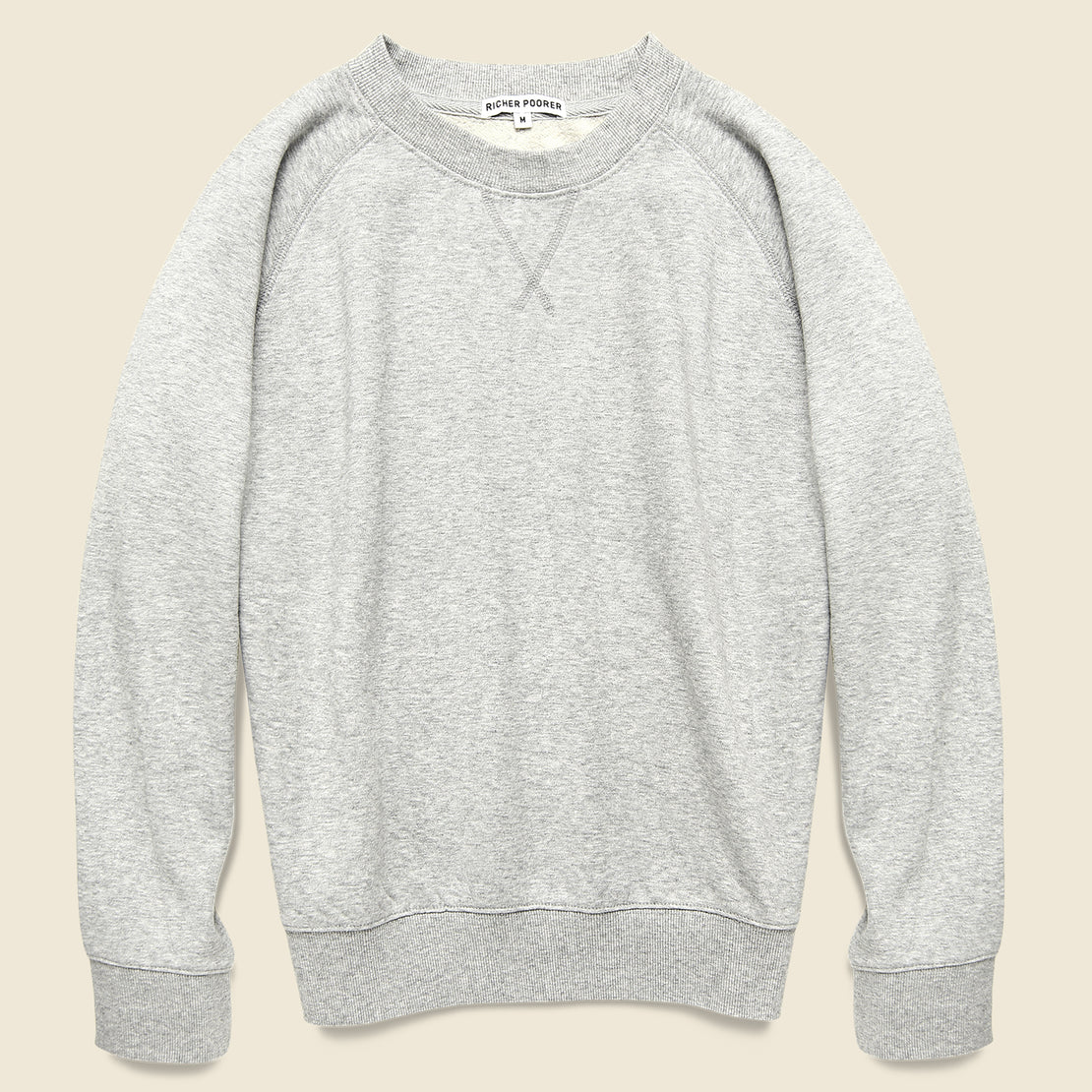 Richer Poorer Crew Sweatshirt - Heather Grey